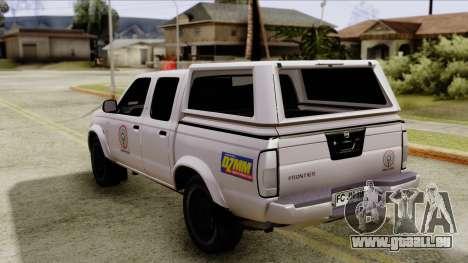 Nissan Frontier ABS CBN pour GTA San Andreas laissé vue