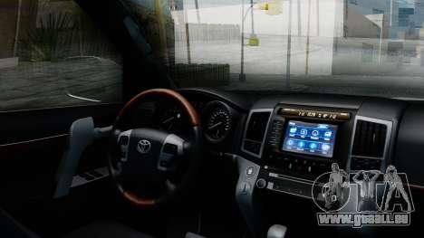 Toyota Land Cruiser 200 2016 Bulkin Edition pour GTA San Andreas vue de droite