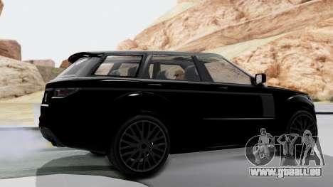 GTA 5 Gallivanter Baller LE IVF für GTA San Andreas zurück linke Ansicht