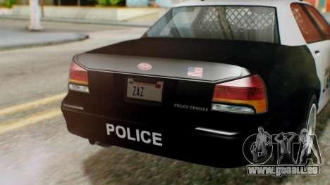GTA 5 Police LV pour GTA San Andreas vue de droite