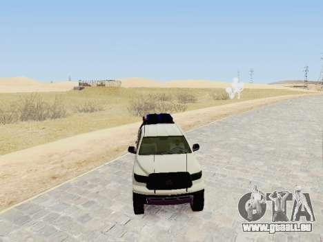 Toyota Tundra 2012 Semi-Off-road pour GTA San Andreas vue de droite
