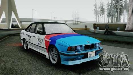 BMW M5 E34 US-spec 1994 (Full Tunable) pour GTA San Andreas vue arrière