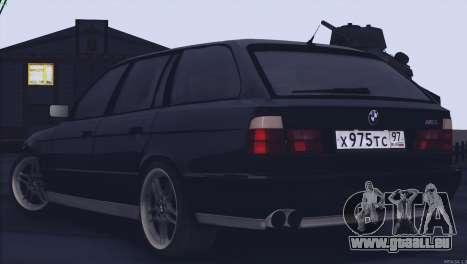BMW M5 E34 Touring 1995 pour GTA San Andreas vue de droite