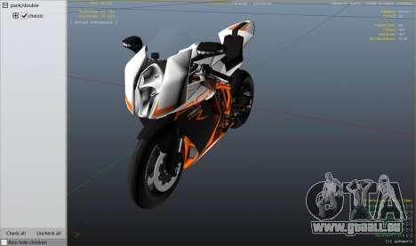 KTM 1190 RC8 R pour GTA 5