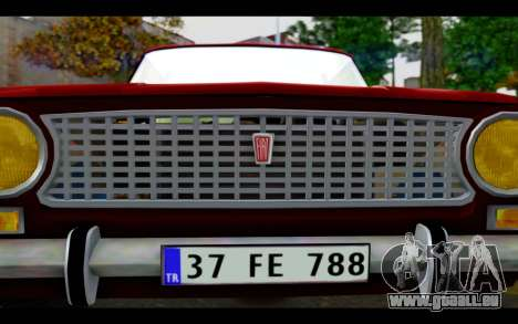 Fiat 124 für GTA San Andreas Seitenansicht