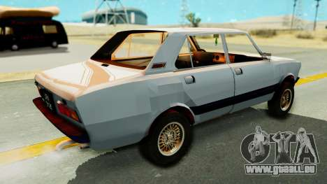 Fiat 132 pour GTA San Andreas sur la vue arrière gauche