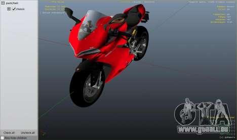 GTA 5 Ducati 1299 Panigale S v1.1 rechte Seitenansicht