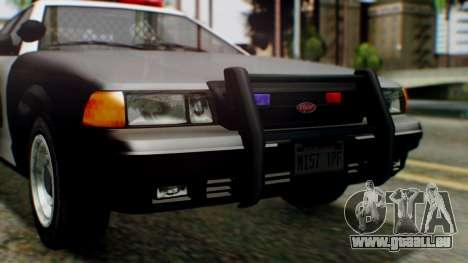 GTA 5 Police LV pour GTA San Andreas vue intérieure