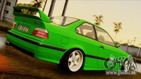BMW M3 E36 [34RS671] pour GTA San Andreas sur la vue arrière gauche