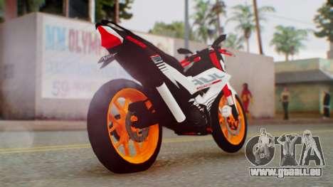 Honda Sonic 150R KingLivery pour GTA San Andreas laissé vue