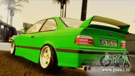 BMW M3 E36 [34RS671] pour GTA San Andreas laissé vue