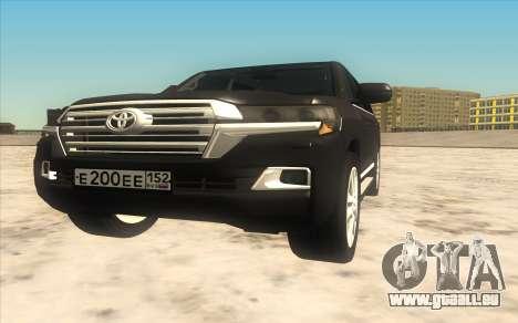 Toyota Land Cruiser 200 2016 pour GTA San Andreas laissé vue