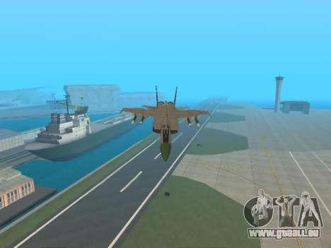 Le MiG 25 pour GTA San Andreas vue de dessus