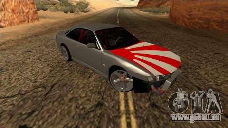 Nissan Silvia S14 Drift JDM für GTA San Andreas Innenansicht