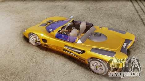 Ferrari P7 Cabrio für GTA San Andreas zurück linke Ansicht