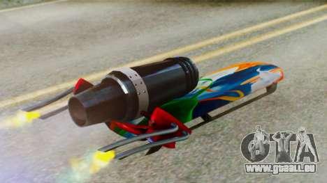 Flying Hovercraft New Skin pour GTA San Andreas vue de droite