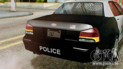 GTA 5 Police LV für GTA San Andreas Rückansicht