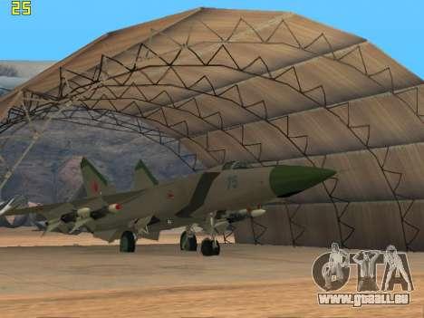 Le MiG 25 pour GTA San Andreas