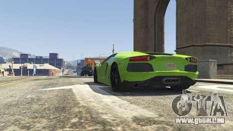 GTA 5 Lamborghini Aventador LP700-4 v.2.2 avant droite vue de côté