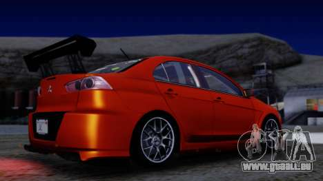 Mitsubishi Lancer Evolution X Tunable New PJ für GTA San Andreas Seitenansicht