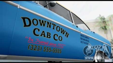 GTA 5 Declasse Cabbie v2 pour GTA San Andreas sur la vue arrière gauche