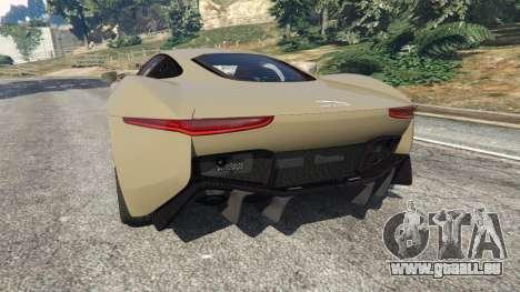 GTA 5 Jaguar C-X75 arrière vue latérale gauche