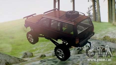 Jeep Cherokee 1984 4x4 pour GTA San Andreas laissé vue