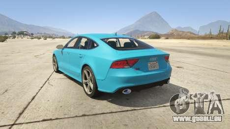 GTA 5 Audi RS7 hinten links Seitenansicht