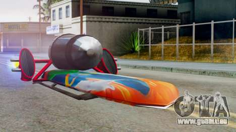 Flying Hovercraft New Skin pour GTA San Andreas sur la vue arrière gauche