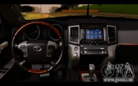 Toyota Land Cruiser 200 2013 Off Road für GTA San Andreas zurück linke Ansicht