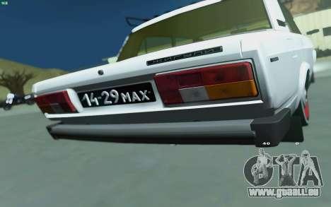 VAZ 2105 pour GTA San Andreas pour GTA San Andreas sur la vue arrière gauche
