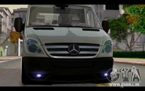 Mercedes-Benz Sprinter pour GTA San Andreas vue arrière