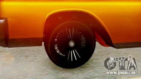 GTA 5 Vapid Chino Tunable pour GTA San Andreas sur la vue arrière gauche