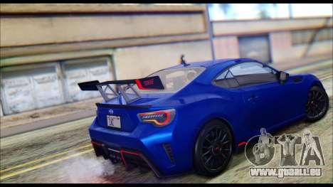Subaru BRZ STi Concept 2016 pour GTA San Andreas laissé vue