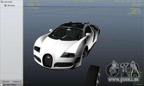 GTA 5 Bugatti Veyron v6.0 hinten rechts