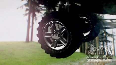 Jeep Cherokee 1984 4x4 für GTA San Andreas zurück linke Ansicht