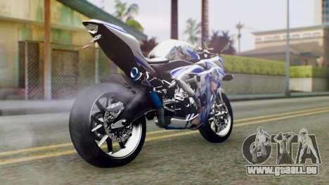 Yamaha YZF R-25 Kos-Mos Xenosaga Itasha 2014 pour GTA San Andreas laissé vue