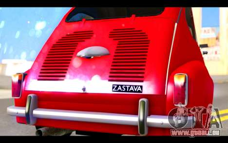Zastava 750 - The Cars Movie für GTA San Andreas Innenansicht