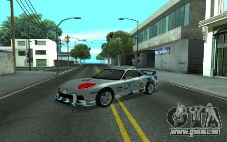 Mazda RX-7 Tunable für GTA San Andreas zurück linke Ansicht