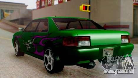 Sultan Винил из Need For Speed Underground 2 für GTA San Andreas zurück linke Ansicht
