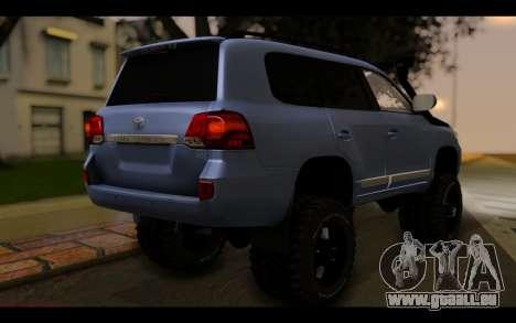 Toyota Land Cruiser 200 2013 Off Road pour GTA San Andreas laissé vue