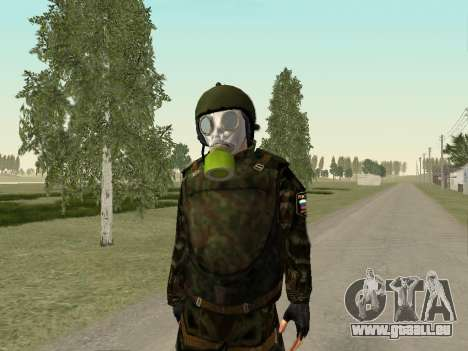Russische Soldaten in der gas-Maske für GTA San Andreas her Screenshot