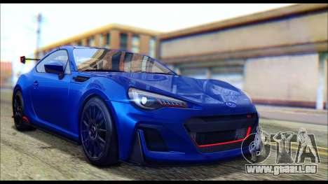 Subaru BRZ STi Concept 2016 für GTA San Andreas zurück linke Ansicht