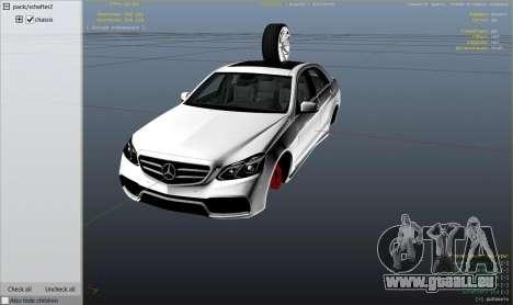 GTA 5 Mercedes-Benz E63 AMG v2.1 droite vue latérale
