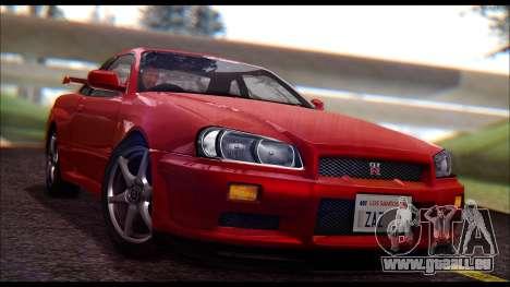 Nissan Skyline R-34 GT-R V-spec 1999 No Dirt pour GTA San Andreas
