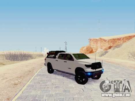 Toyota Tundra 2012 Semi-Off-road pour GTA San Andreas laissé vue