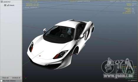 GTA 5 2011 McLaren MP4 12C rechte Seitenansicht