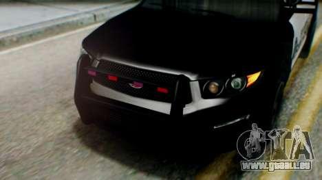 GTA 5 Police SF für GTA San Andreas Rückansicht