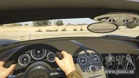 GTA 5 Bugatti Veyron v6.0 vue arrière