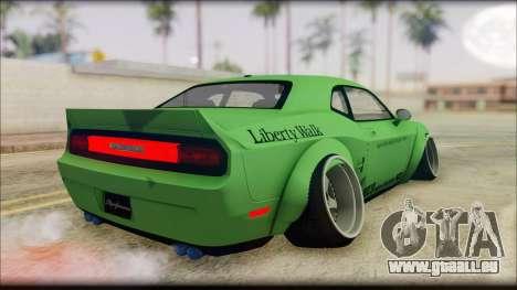 Dodge Challenger LB Perfomance pour GTA San Andreas laissé vue